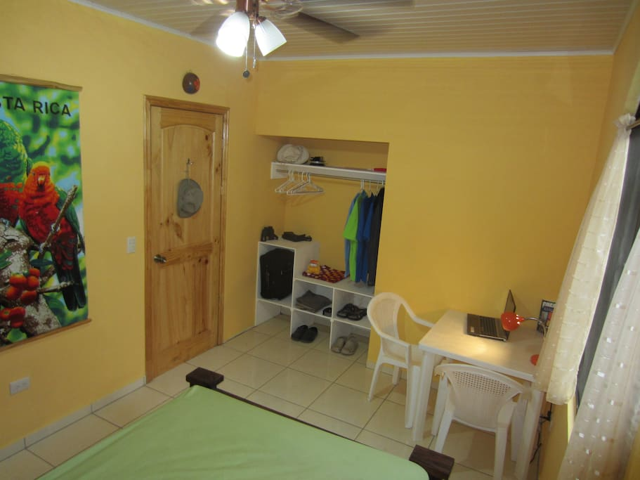 Bedrooms all have large ceiling fans and table and chairs.