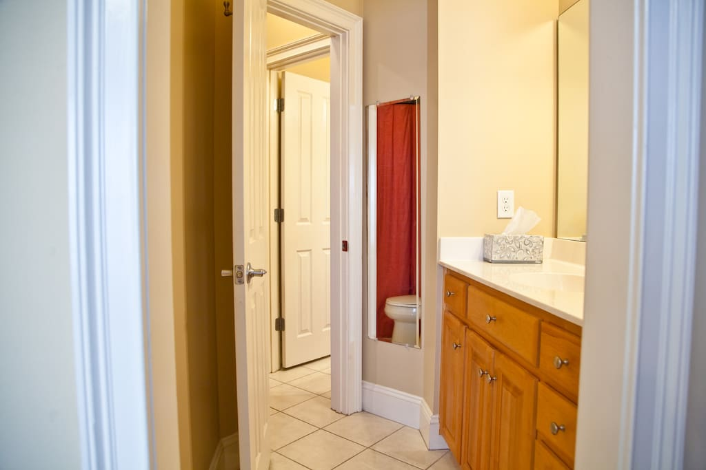 Jack and Jill Bedrooms share a bath