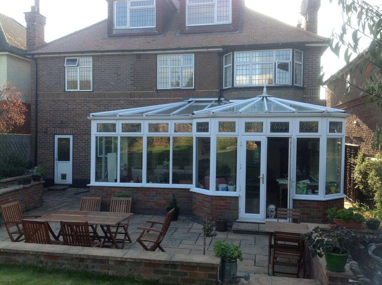 Lovely conservatory to look out onto the garden
