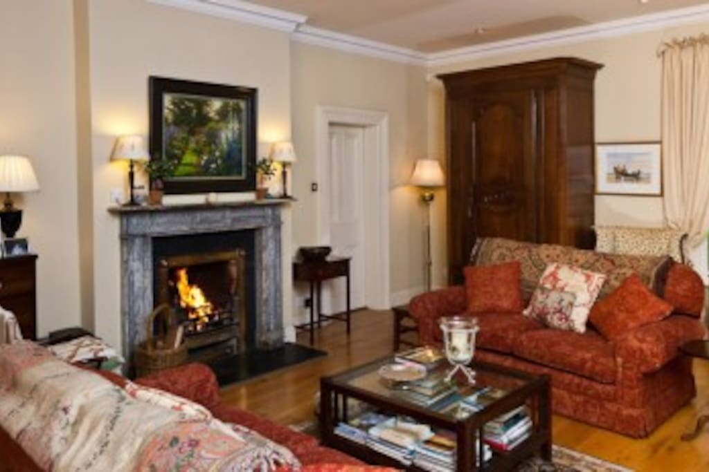 Living Room with Open Fire
