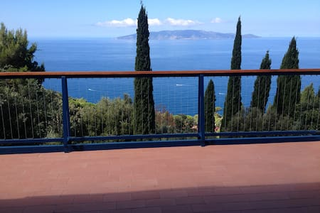 Terraced house with beautiful panoramic view - Monte Argentario