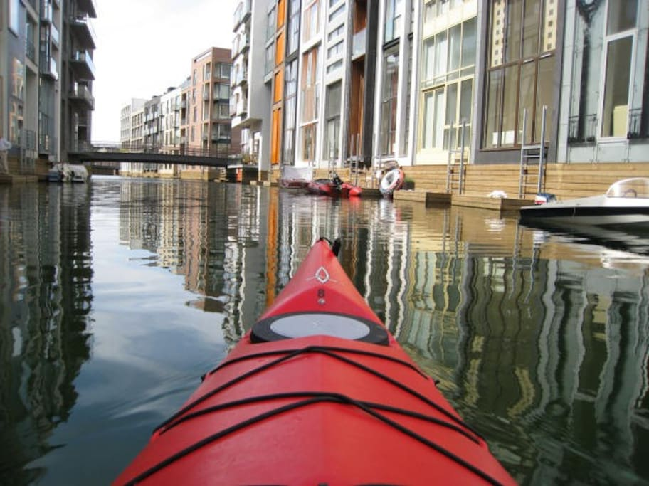 You can use our kayak. Photo from one of the canals
