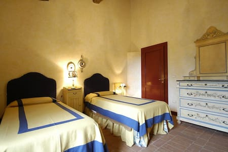 camera con due letti singoli - Collesalvetti - Bed & Breakfast