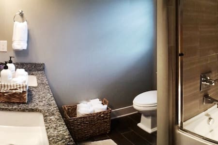 Our brand new home is located in Nashville's fastest growing neighborhood; minutes from everything! You will have a private bedroom, and we include premium amenities such as breakfast items and toiletries. Enjoy our charming patio, and our large kitchen!