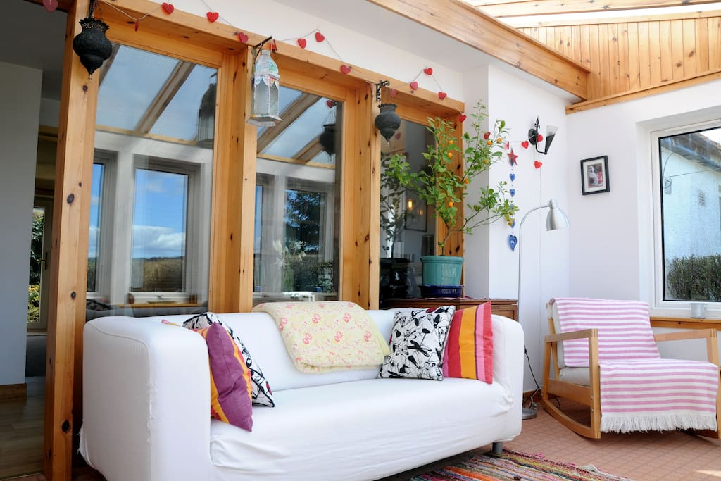 Your personal hang out space - just off your bedroom and overlooking the garden