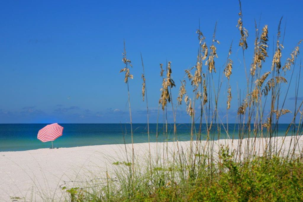 Photo taken from our private, gated access to Crescent Beach on Siesta Key.