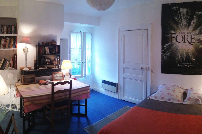 Vue panoramique de la chambre.