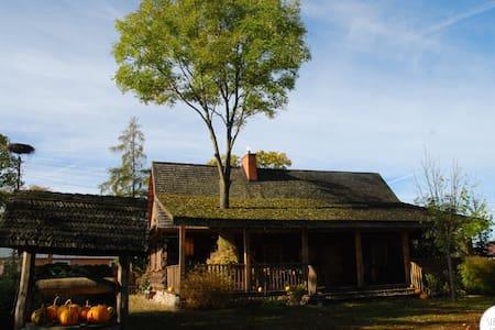 Dom z tarasem - odnowiona chata z bali - Kunyhó