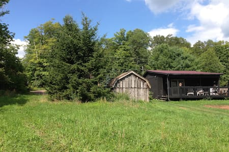 Cabin on Burnett Farms, Bovina, NY - Kisház