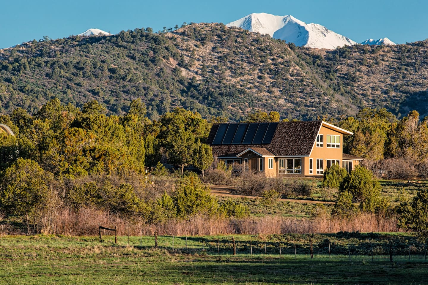 We welcome you to stay with us in our modern solar home nestled in the Colorado countryside just 9 miles from downtown Durango, towards the La Plata County airport