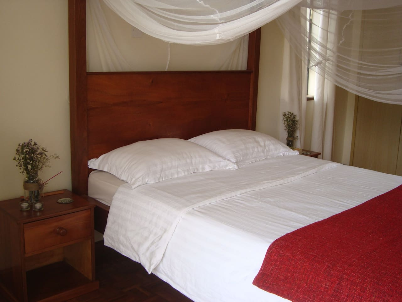 Big colonial timber bed