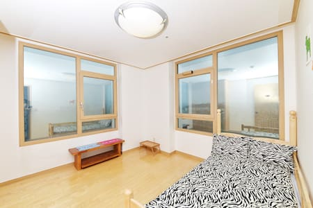 """Hi, Guests.  It's honor to introduce you """"Worldcuptel"""" - Our NEW Three-Rooms APT style and Exclusive for Women Guesthouse.  It's has very good location and transportation in Seoul.   Love to see you soon!"""