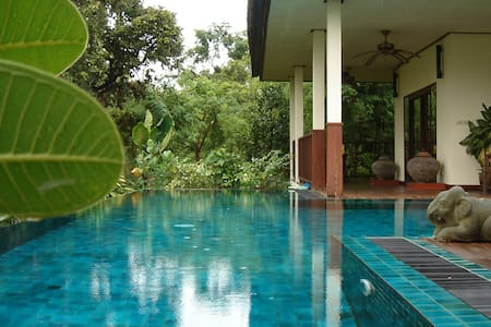 Enjoy this peaceful, private pool villa in rural Thailand and the excellent Thai meals that are included free of charge throughout your vacation.