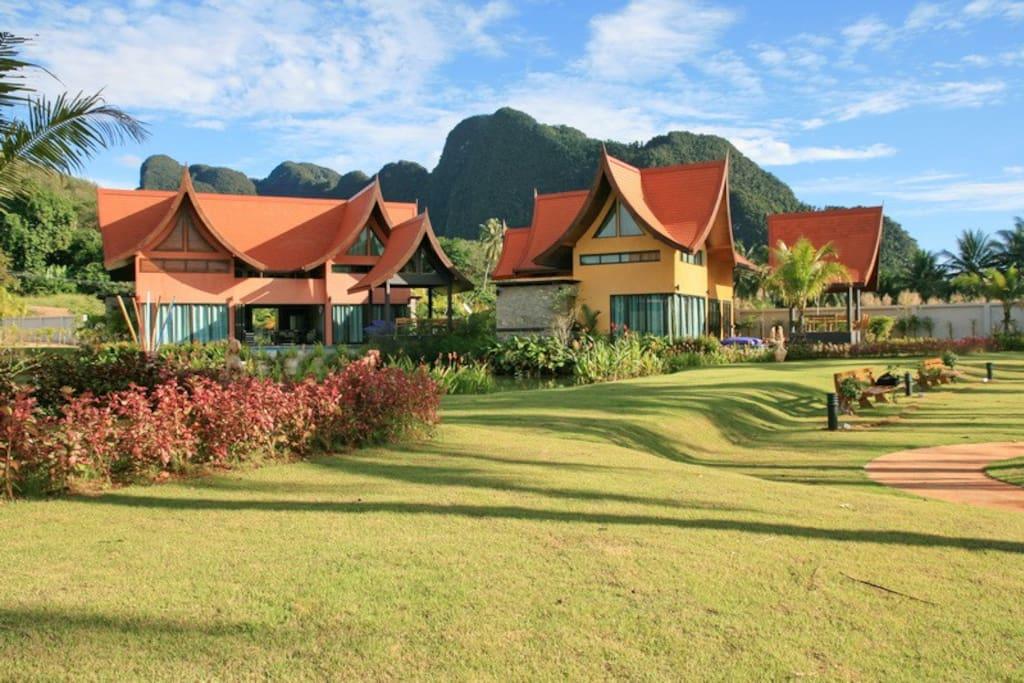 Tha Lane Bay resort; Village General View