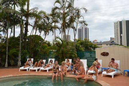 Budds In Surfers is an independent backpackers resort and rests snugly amongst lush palms just 5 minutes walk from the heart of Surfers Paradise and 2 minutes walk from the picturesque beach.