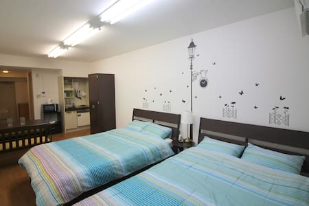 Private Spacious Studio for 4 persons #F06 - Chiyoda-ku - Appartement