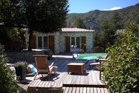 Belle demeure Provençal, piscine - Entrevaux
