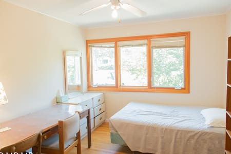 A sunny room shared bath
