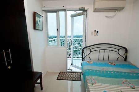 37F Furnished 1BR w/ Balcony & Wifi - Quezon - Condominio