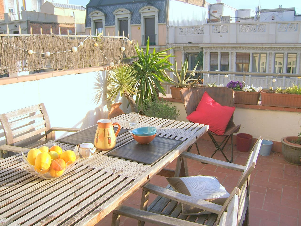 Access to sunny terrace for sun bathing and breakfast/dinner outside