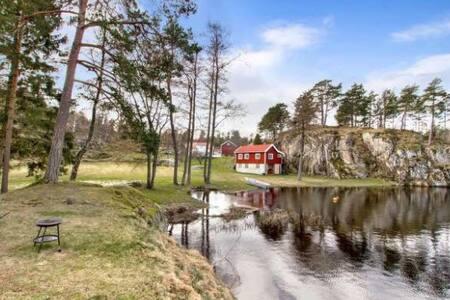 Idyllisk hytte, sandstrand - Cabin