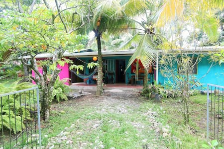 The house is right next to ours on the same property. We live just 150m from the Cahuita National Park and the beach. The city center is just around the corner where you can find nice restaurants with great Caribbean style food. It's a lovely place