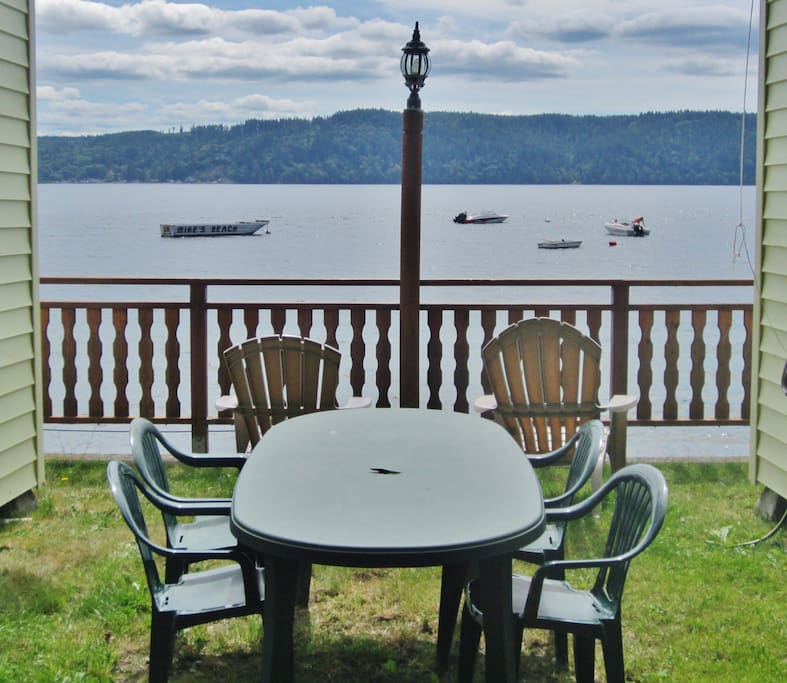 Your own private waterfront grassy area just to the right of your cabin