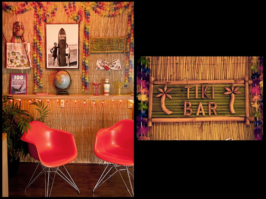 The bamboo Bar that lights up at night and makes everyone smile!