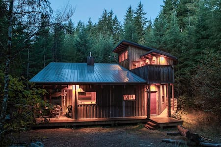 Modern Cabin in the Rainforest - Jordan River - Hus
