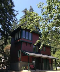 Romantic Santa Cruz Tower in the Redwoods - Rumah
