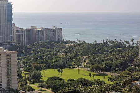 Highrise studio w/ incredible views - Honolulu - Apartment