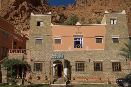 Hôtel Azul, chambre 4 personnes - Tinghir - Hotel butique