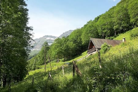 Cosy cottage in the heart of the Pyrenees - Bonac-Irazein - Blockhütte