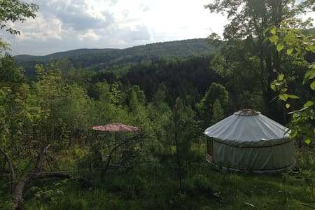 Lower Yurt Stay,  on VT Small Farm - Randolph - Yurt