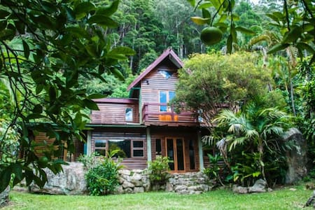 Offering 1 bedroom in funky rainforest house - Haus