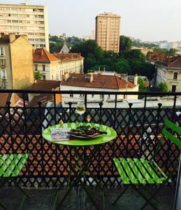 Studio w/ balcony Paris Pantin - Pantin - Appartement