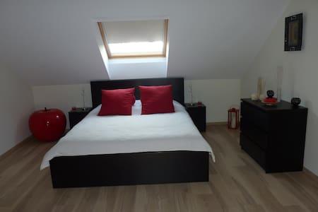 Belle chambre spacieuse avec coin télé et bureau - Piseng - Haus