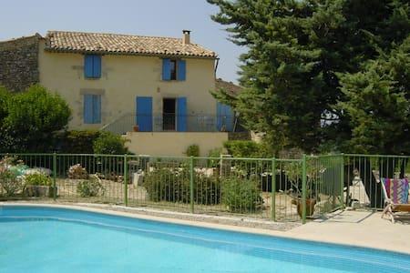 Provencal, Luberon, pool - Saint-Martin-de-Castillon
