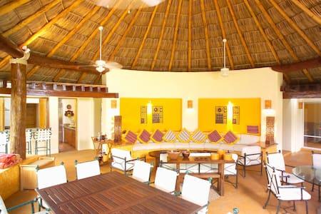 private Beach Villa Bugambilias at Marina Chacala - Chacala - Villa