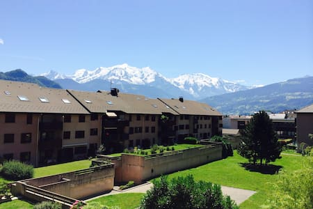 Room with view of Mont Blanc - Sallanches - Lejlighed