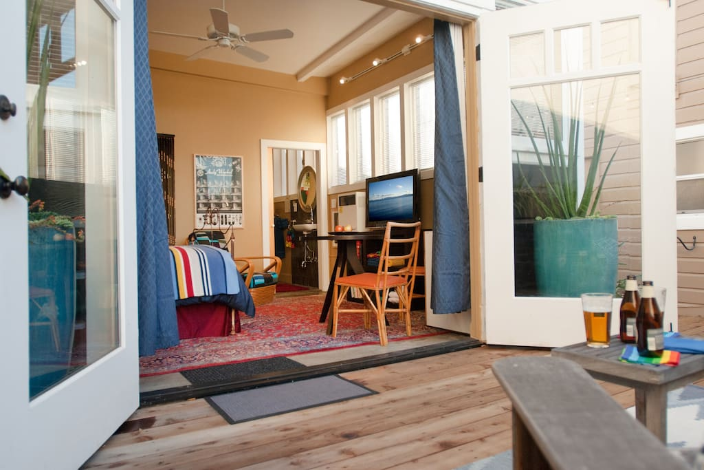 Your private deck for relaxing after a day of exploring San Francisco
