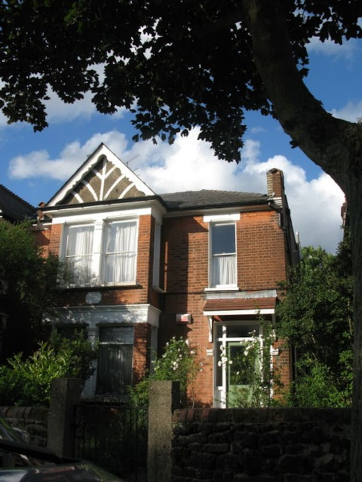Our flat in a converted Victorian house. Our flat is on the ground floor only.