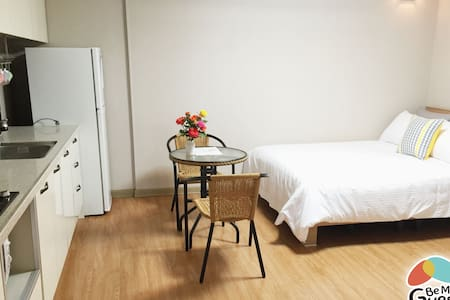 Be my guest B&B is convinently located in downtown Gyeongju near the city's two main bus terminals.  It is a fully furnished modern accomodation for travellers who want more than just a room in a hotel.  Please be my guest. :