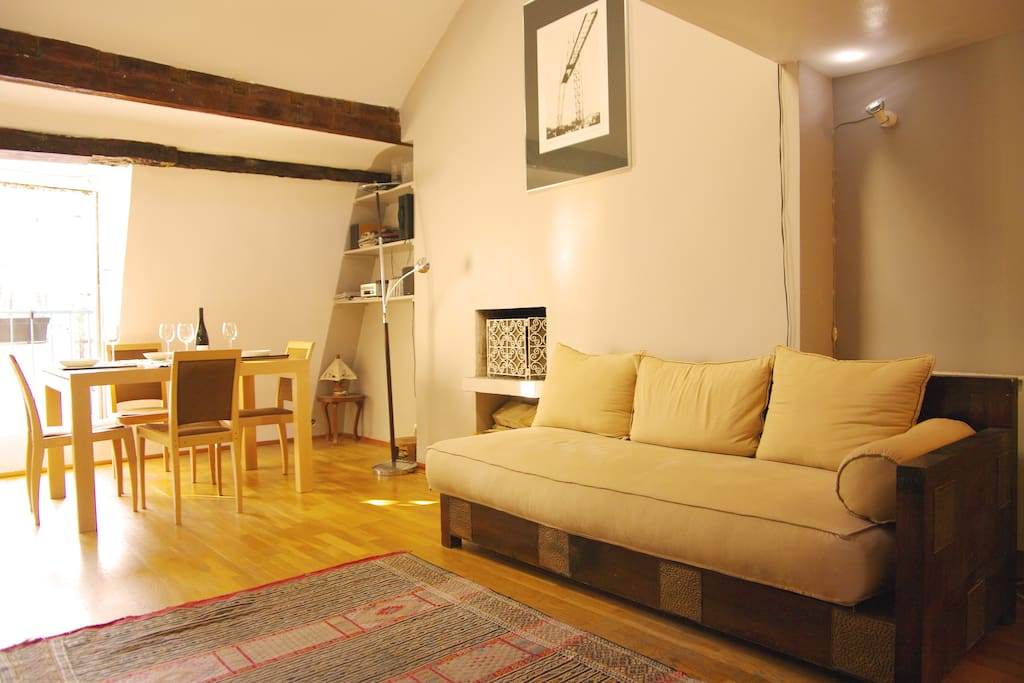 living room + diner table