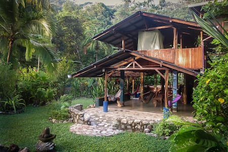 Casa Aire Libre is a two-story, open air rustic home truly one with nature, located in the forest reserve of the world famous Corcovado National Park with a brand new park entrance opened in February 2015!