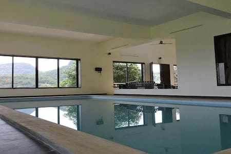 Hilltop Stay with Indoor Swimming Pool 3BHK Villa - PMC