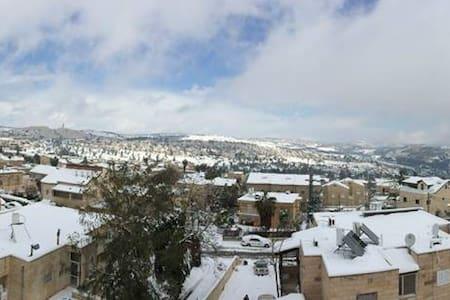 Jerusalem view, rooftop flat+pool - Dom