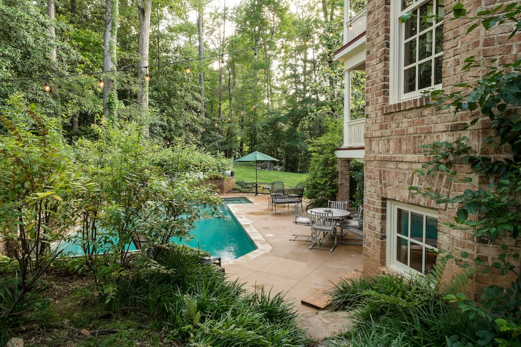 Leading to private, heated pool