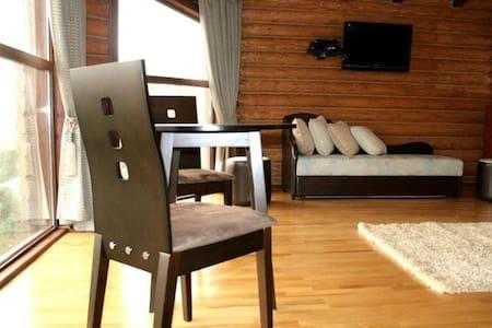 Presidential suite in log cabin - Aamiaismajoitus