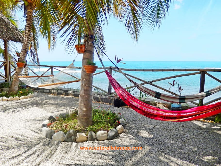 Coterelle Breeze: Private & Peaceful Ocean Front Inn. Safe and Fun for outdoor sleeping.